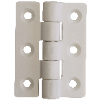 Hinges -Nylon White 75mm