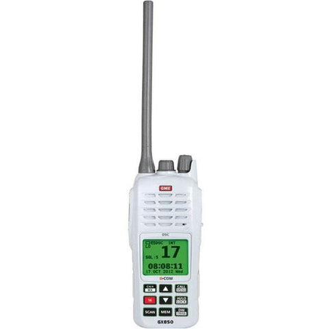 GME 5/1 Watt Handheld VHF Radio w/ DSC. Floating & Waterproof w/ Auto-Flash LCD