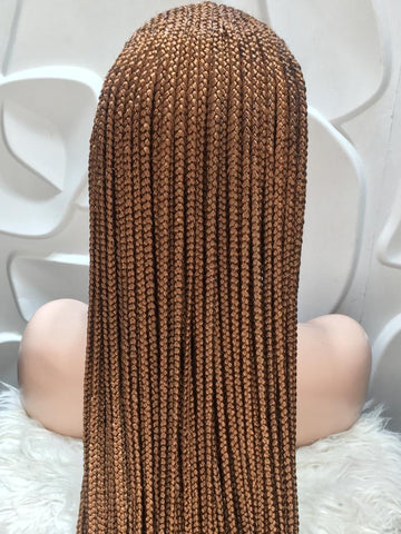 7 by 7 Cornrow Lace Front Wigs Back View