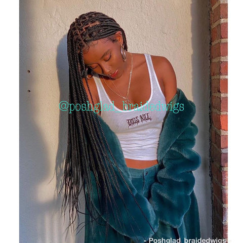 SHADE KNOTLESS BOX BRAID FULL LACE (medium brown)