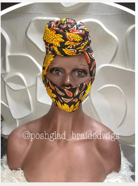 TURBAN AND FACE MASK