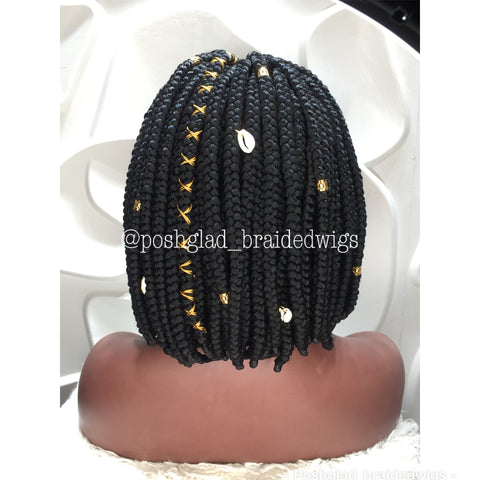 UCHE BOB BRAIDED WIG (FRONTAL LACE 13 by 4)