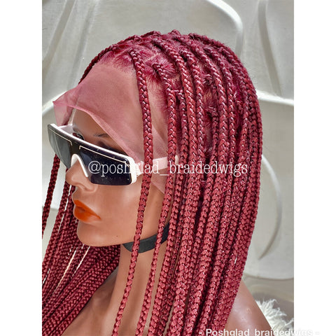 SHADE KNOTLESS BRAIDED WIG. (FULL LACE)