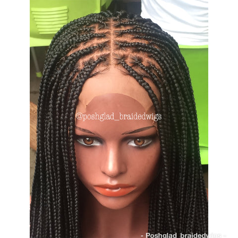 SHADE KNOTLESS BRAIDED WIG (FRONTAL LACE 13X4)