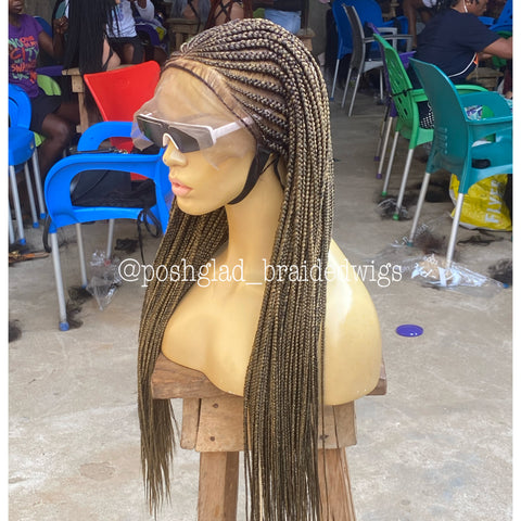 BONNIE (2) CORNROW ( Deep frontal lace 13 by 6)