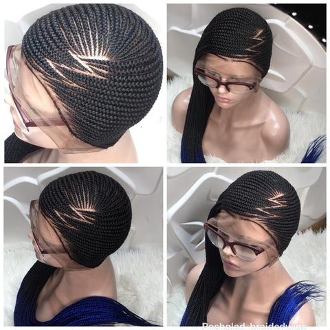 Aaliyah Lemonade Braided Wig Full Lace Photo Collage