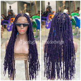 DESTRESS FAUX LOCS IN PURPLE