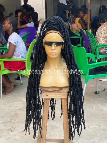 DESTRESS FAUX LOCS/ WAIST LENGTH COLOR 1B (dreads)