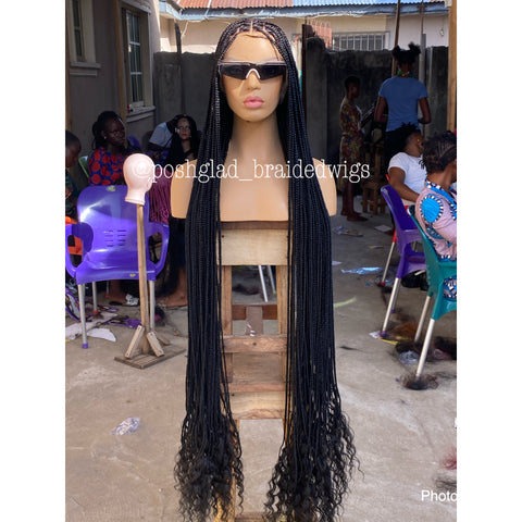 HD GODDESS KNOTLESS BOX BRAID (FULL LACE ) KNEE LENGTH COST EXTRA/HD LACE COST EXTRA $150