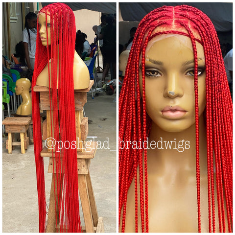 Shade knotless (PREMIUM RED) calf length cost extra $50