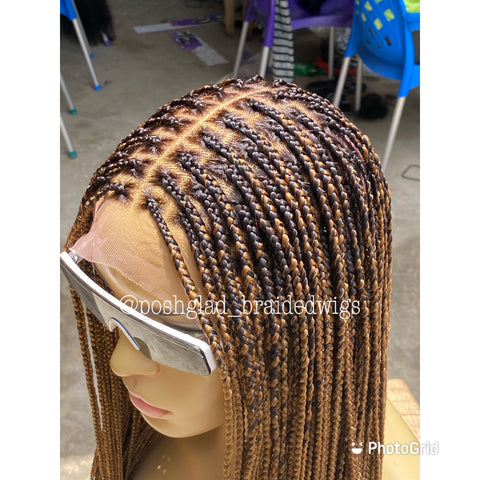 SHADE KNOTLESS BOX BRAIDED WIG ( full density)