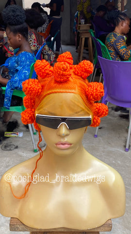 BANTU KNOT (orange custom color)