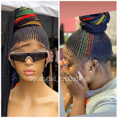 JAMAICAN CORNROW BRAIDED FULL LACE