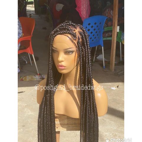 AMIRA TRIANGLE JUMBO BRAIDED WIG
