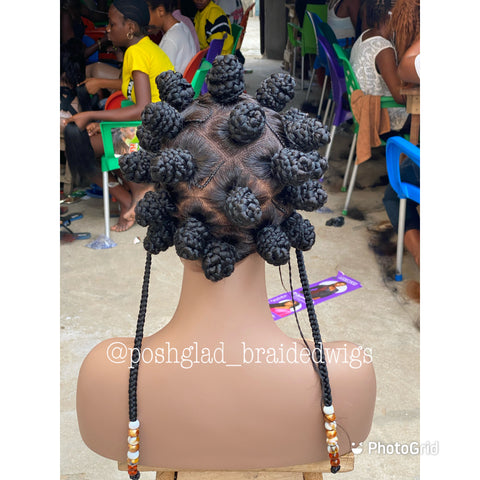 BANTU KNOT BRAID
