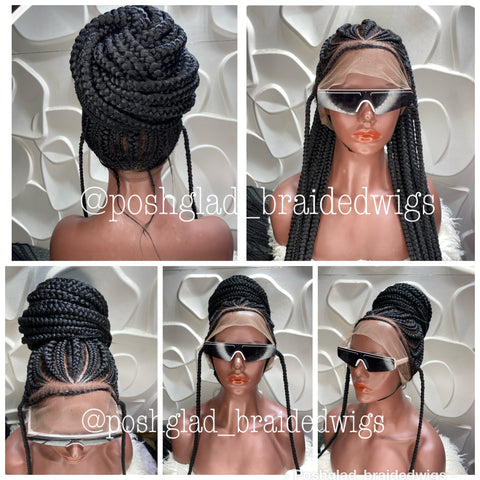 ALINA PONYTAIL CORNROW FULL LACE