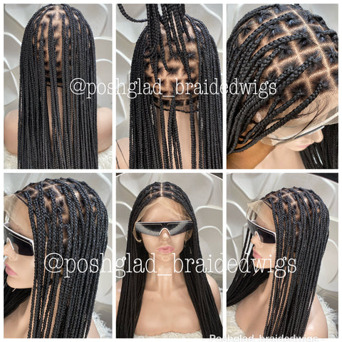 HD KNOTLESS BRAIDED WIG FULL LACE