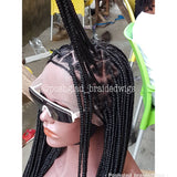 SHADE TRIANGLE KNOTLESS BRAIDED WIG