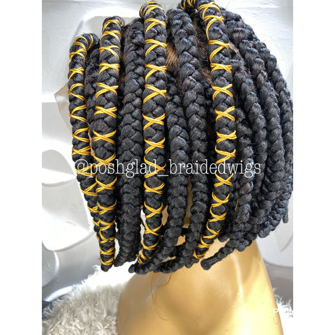 UCHE BOB braided wig (full lace )
