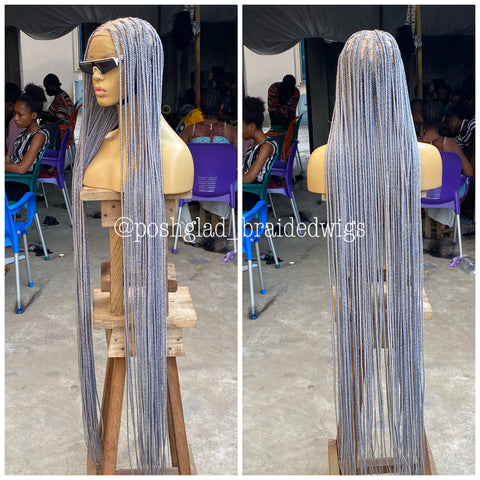 SHADE KNOTLESS (GRAY ROOT) knee length cost extra $50
