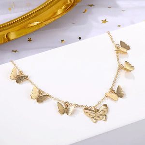 Butterfly Multilayer Clavicle Necklace
