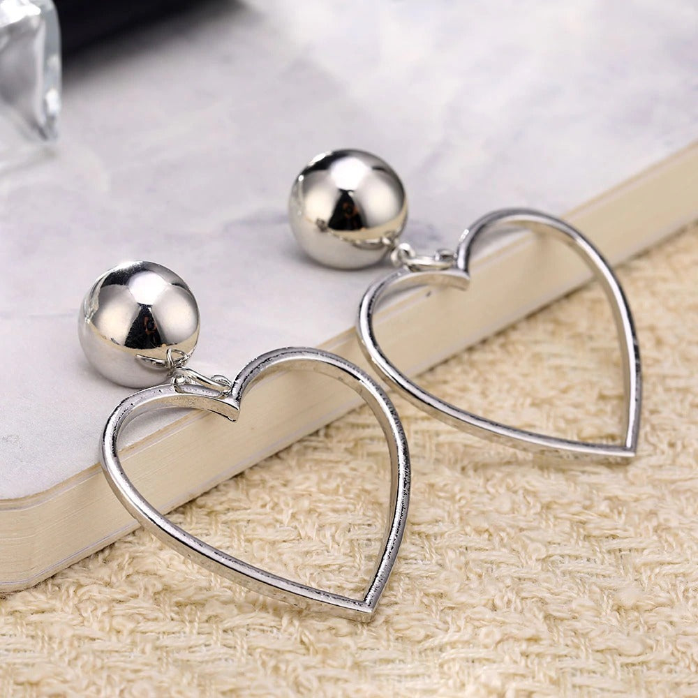 Love Heart Dangle Earrings