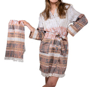 hammam bathrobe with hammam towel