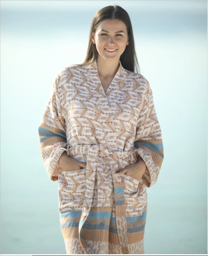 Hammam Bathrobe Kimono ESLA - for Ladies - exclusive design