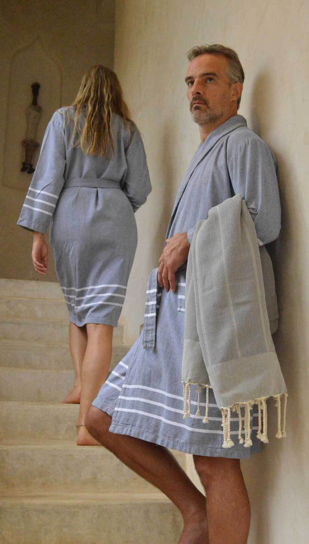 Hammam bathrobe HAZAN - cotton - men and women