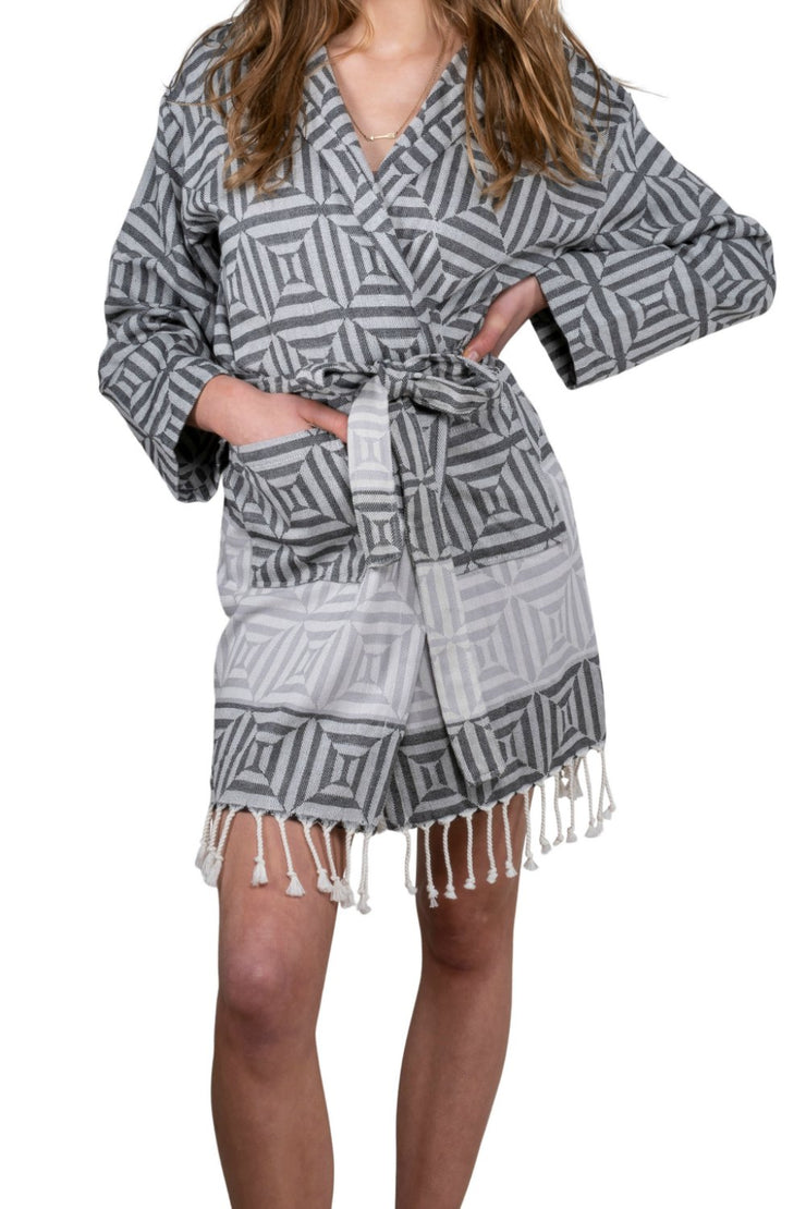 Hammam Bathrobe SQUARE for Ladies - One Size