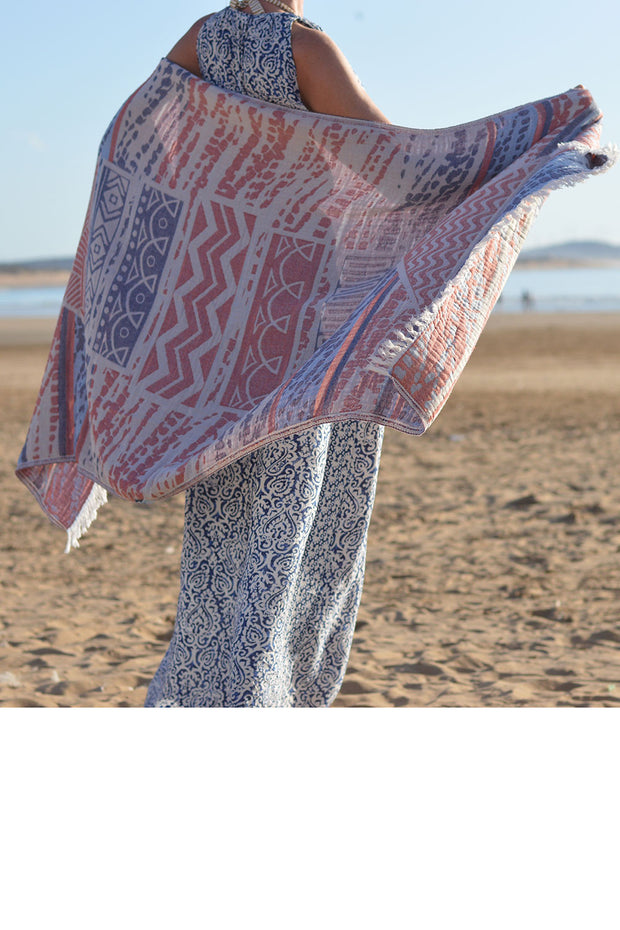 Hammam beach towel FISH - 95 x 190 cm