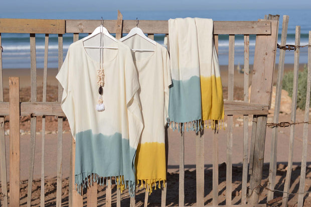 Special Beach dress TIE-DYE - Bamboo cotton