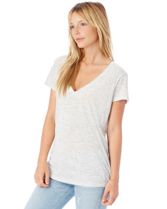 Image of Salty Hull Alternative Ladies' Slinky-Jersey V-Neck T-Shirt