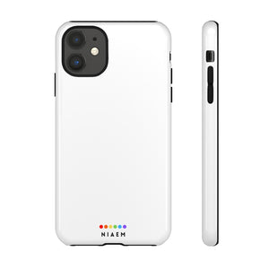 NIAEM White Tough iPhone Cases