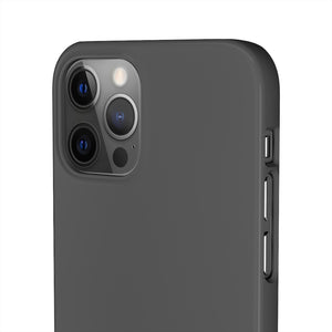 NIAEM Dark-Grey Snap iPhone Cases