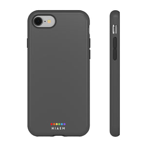 NIAEM Dark-Grey Tough iPhone Cases