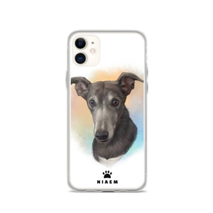 Cute Black Dog Illustration iPhone Cases