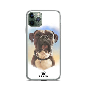 Boxer Dog Illustration iPhone Cases