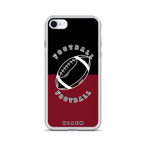 American Football iPhone Case (Black & Red 2)
