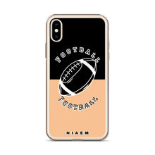 Load image into Gallery viewer, Football iPhone Case (Black & Nude 1)