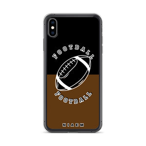 Football iPhone Case (Black & Brown)