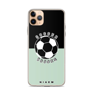 Soccer iPhone Case (Black & Green 5)