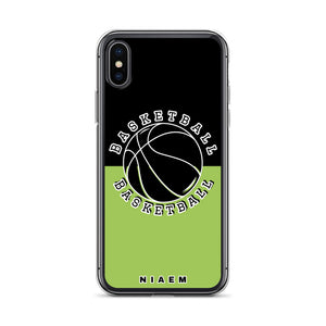 Basketball iPhone Case (Black & Green 3)
