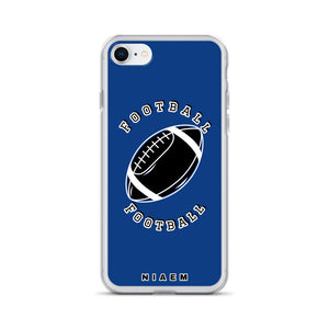 Football iPhone Case (Blue 2)