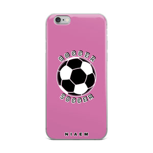 Soccer iPhone Case (Pink 1)