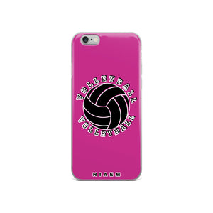 Volleyball iPhone Case (Pink)