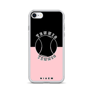 Tennis iPhone Case (Black & Pink 3)