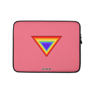 Pink Triangle MacBook Laptop Sleeve