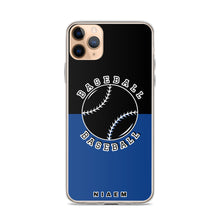 Load image into Gallery viewer, Baseball iPhone Case (Black & Blue 2)