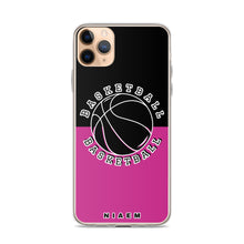 Load image into Gallery viewer, Basketball iPhone Case (Black & Pink)